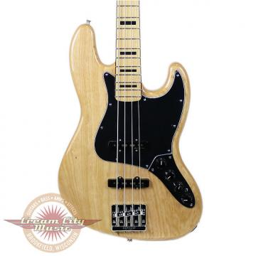 Custom Brand New Fender Deluxe Active Jazz Bass Maple Fingerboard in Natural Demo