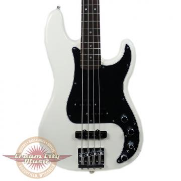 Custom Brand New Fender Deluxe Active Precision Bass Special Rosewood Fingerboard in Olympic White Demo