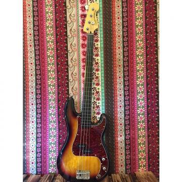 Custom Squier Fretless P-Bass 2016 Sunburst