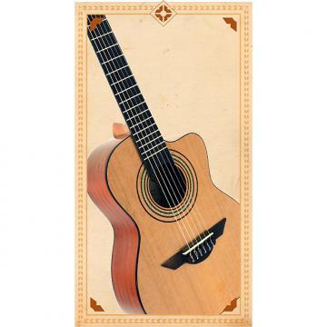 Custom H. Jimenez Requinto LR1C Voz de Trio Cutaway Acoustic Guitar with Gig Bag