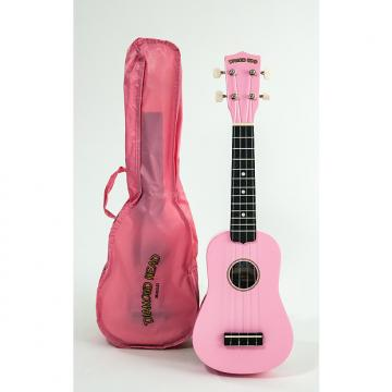 Custom Diamond Head Soprano Ukulele Pink