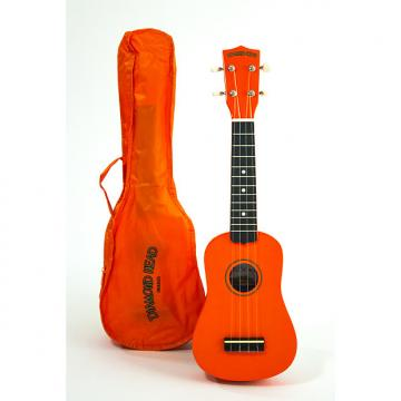 Custom Diamond Head Soprano Ukulele Orange