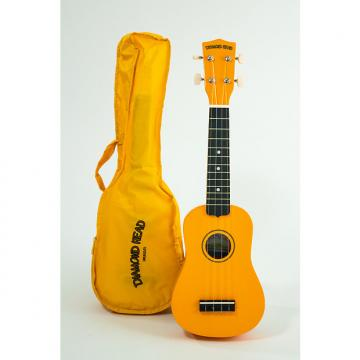 Custom Diamond Head  Soprano Ukulele Yellow