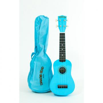 Custom Diamond Head Soprano Ukulele Light Blue