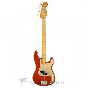 Custom Fender '50s Precision Maple Fingerboard Electric Bass Guitar Fiesta Red - 131702340 - 717669377885