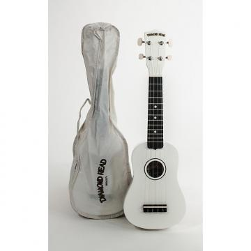 Custom Diamond Head Soprano Ukulele White