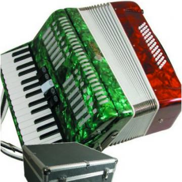 Custom Mirage Mexican Flag Color Piano Key Accordion (great holiday gift idea) - 809312100176
