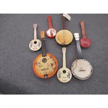 Custom Ukuelels Batch of 7 assorted vitage ukulele wall hanger projects 1920-60's