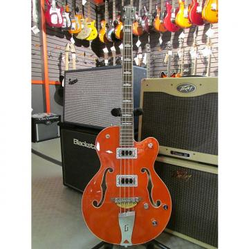 "Custom Gretsch G5440LSB Electromatic Hollow Body 34"" Long Scale Bass, Orange"