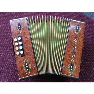 Custom Vintage Hohner Steel Reed Button Accordian  Brown