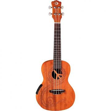 Custom Luna Peace Concert Acoustic/Electric Ukulele Natural (Floor Model)
