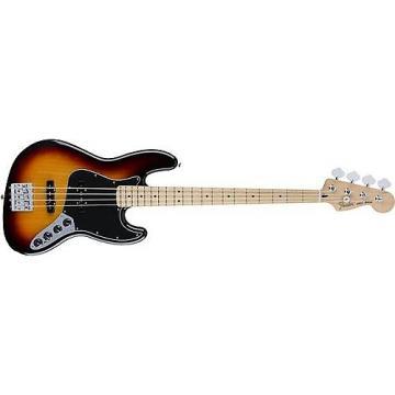 Custom Fender Deluxe Active Jazz Bass (3-Tone Sunburst, Maple Fingerboard)