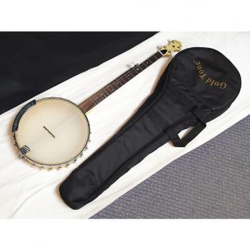"Custom GOLD TONE CC-Carlin 5-string open-back Clawhammer BANJO w/ BAG - 12"" head - B"