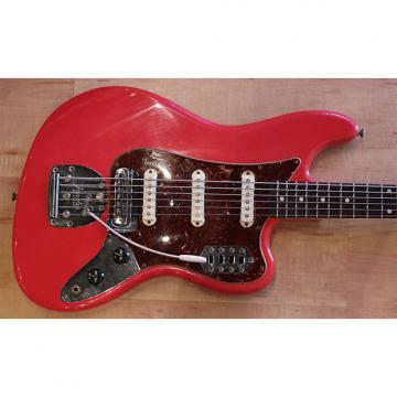 Custom Fender Custom Shop 60′s Relic Bass VI 2014 Fiesta Red With Matching Headstock