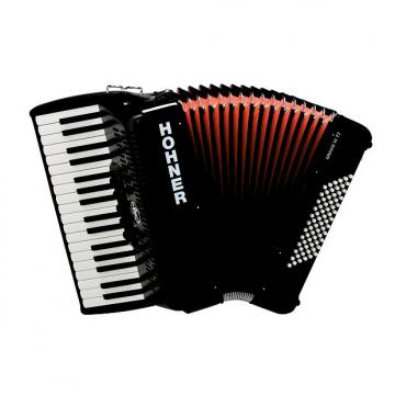 Custom Hohner Bravo 72 Bass Black NEW Piano Accordion Acordeon w/Bag, Straps, Instruction DVD - 3 Day Ship!