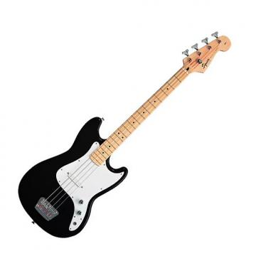 Custom Squier Bronco Bass Guitar Black