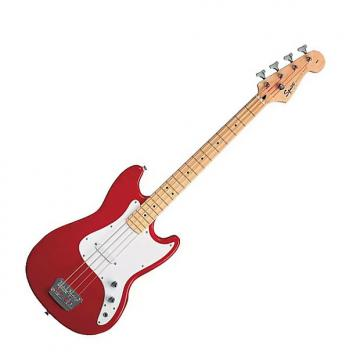 Custom Squier Bronco Bass Guitar Torino Red