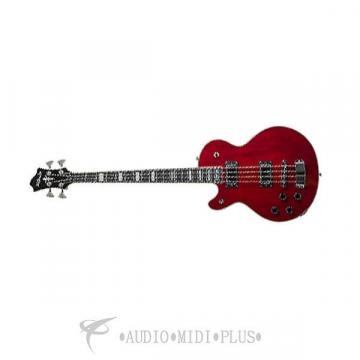 Custom Hagstrom Swede 4 Strings Left Handed Electric Guitar Wild Cherry - SWEF-L-WCT-U - 07340071901886