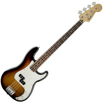 Custom Fender Standard Precision Bass Guitar Rosewood Brown Sunburst
