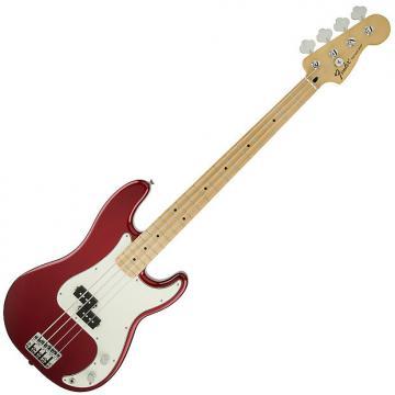 Custom Fender Standard Precision Bass Guitar Maple Candy Apple Red