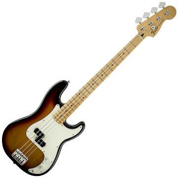 Custom Fender Standard Precision Bass Guitar Maple Brown Sunburst