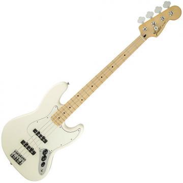 Custom Fender Standard Jazz Bass Guitar Maple Arctic White