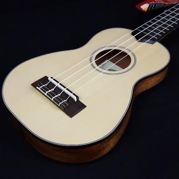 Custom New KALA Soprano Travel Ukulele Uke KA-SSTU w/ Gig Bag Solid Spruce Top Thinline