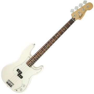 Custom Fender Standard Precision Bass Guitar Rosewood Arctic White