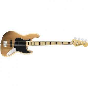 Custom Squier Vintage Modified  '70s Jazz Bass Guitar Natural