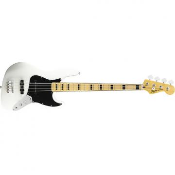 Custom Squier Vintage Modified  '70s Jazz Bass Guitar Olympic White