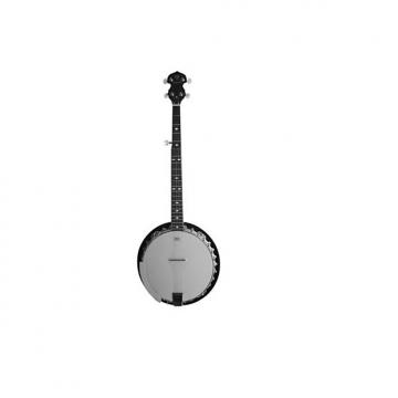 Custom Danville Banjo 30 Bracket, Inlaid Mother of Pearl, Sealed 5th Gear Aluminium Pot, Bound Rose-  BJ-30
