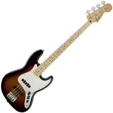 Custom Fender Standard Jazz Bass Guitar Maple Brown Sunburst