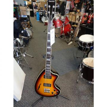 Custom new Giannini Craviola GCRA202B sunburst semihollowbody electric bass with gig bag