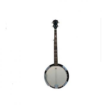 Custom Danville Banjo 24 Bracket, Inlaid Mother of Pearl, Sealed 5th Gear Bound Rose Wood Fret Board #BJ-24