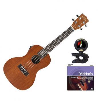 Custom Kala KA-CE Concert Ukulele Satin Mahogany w/EQ Bonus Kit
