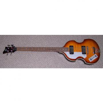 Custom Rogue Violin Bass... Left Handed ...sunburst  with HSC
