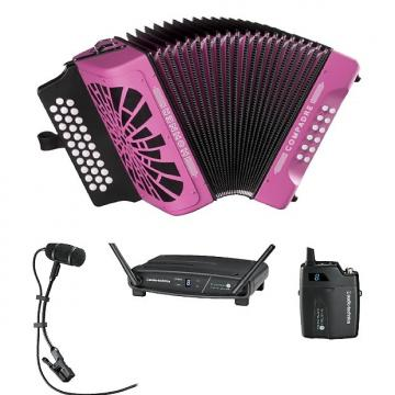 Custom Hohner Compadre Accordion GCF SOL with Gig Bag & Audio-Technica Wireless System