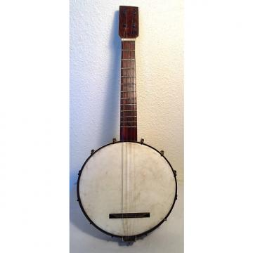 Custom Vintage Ancient Mini Banjo With Buckbee Hardware Tenor 1900 Gold Shield Hardware