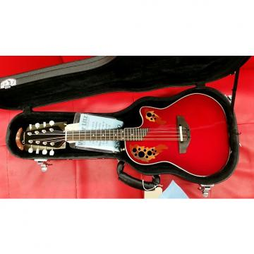 Custom Ovantion MM68AXCCB Mandolin Acoustic/ Electric Cherry Burst with FREE Case