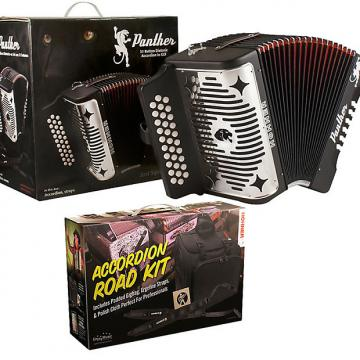 Custom Hohner Panther GCF Sol Acordeon w/Accordion Road Kit: Deluxe Bag, DVD, Ergoline Straps SAME DAY SHIP