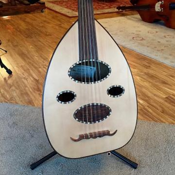 Custom Egyptian Oud, walnut with clear lacquer and abalone