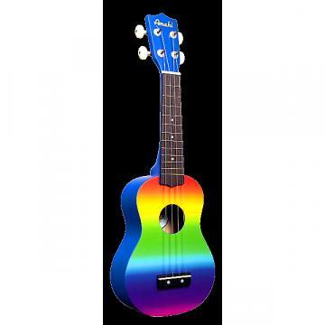 Custom Amahi Rainbow Gradient Soprano Ukulele