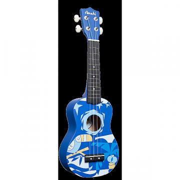 Custom Amahi Blue Bird Soprano Ukulele