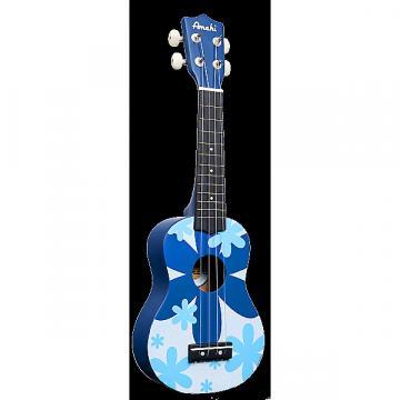 Custom Amahi Blue Flower Soprano Ukulele