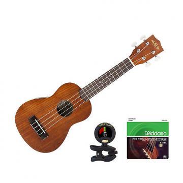 Custom Kala KA-S Soprano Ukulele Satin Mahogany Bonus Kit