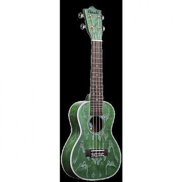 Custom Amahi C-24 Quilted Ash Concert Ukulele Green
