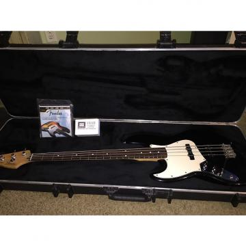 Custom Fender Left-handed Mexican Jazz Bass 2002 Black With Hard Case And Others