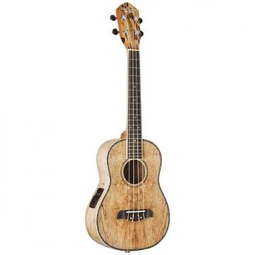 Custom New Oscar Schmidt OU7TE Spalted Mango Acoustic Electric Tenor Ukulele + Free Shipping