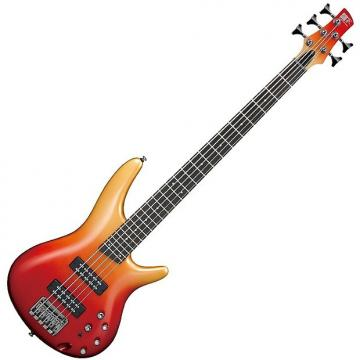 Custom Ibanez SR305E 5 String Electric Bass Guitar Autumn Fade Metallic Finish