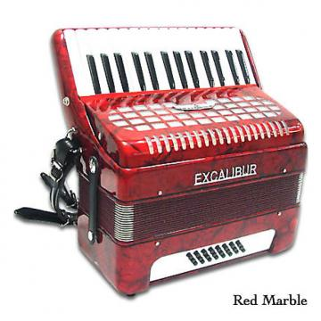 Custom Excalibur Geneva 24 Bass Piano Accordion 2016 Red